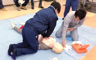 AED講習の写真