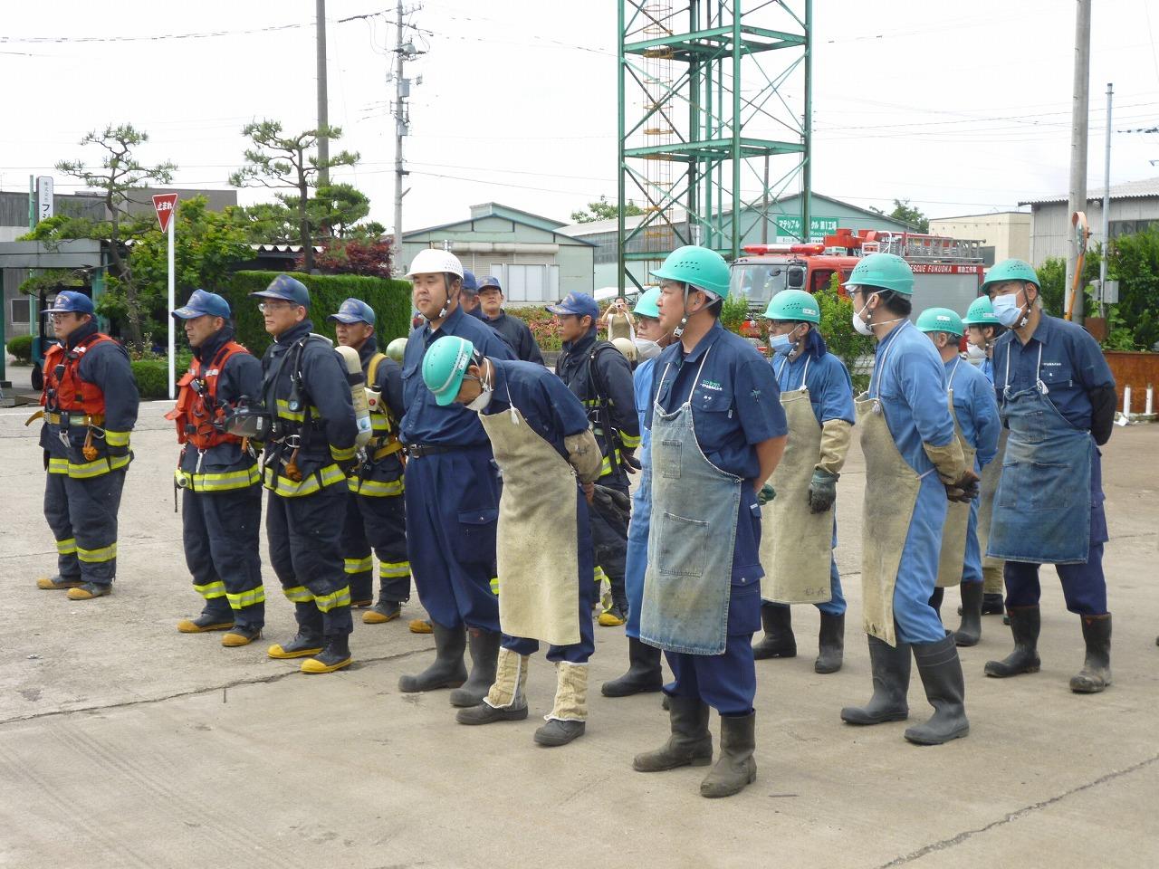 危険物安全週間特別消防訓練を福岡消防署の皆さんと合同で行いました