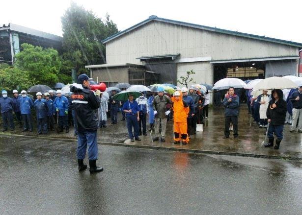 福岡金属工業団地避難訓練へ参加